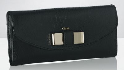 the perfect black clutch - love me some Chloe