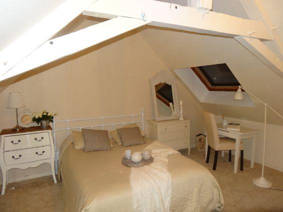 La chambre total look blanc au gîte des Poules rousses déco by Annartiste