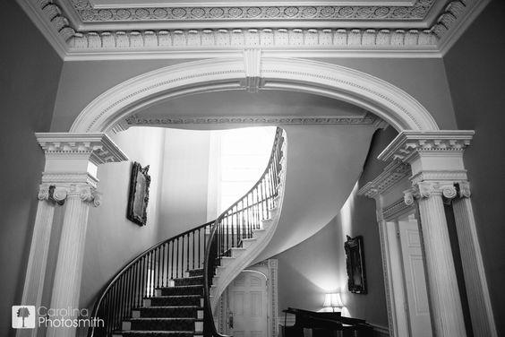 Thomas Bennett House in downtown Charleston. Stunning architecture, impressive staircase, immaculate garden. © Carolina Photosmith