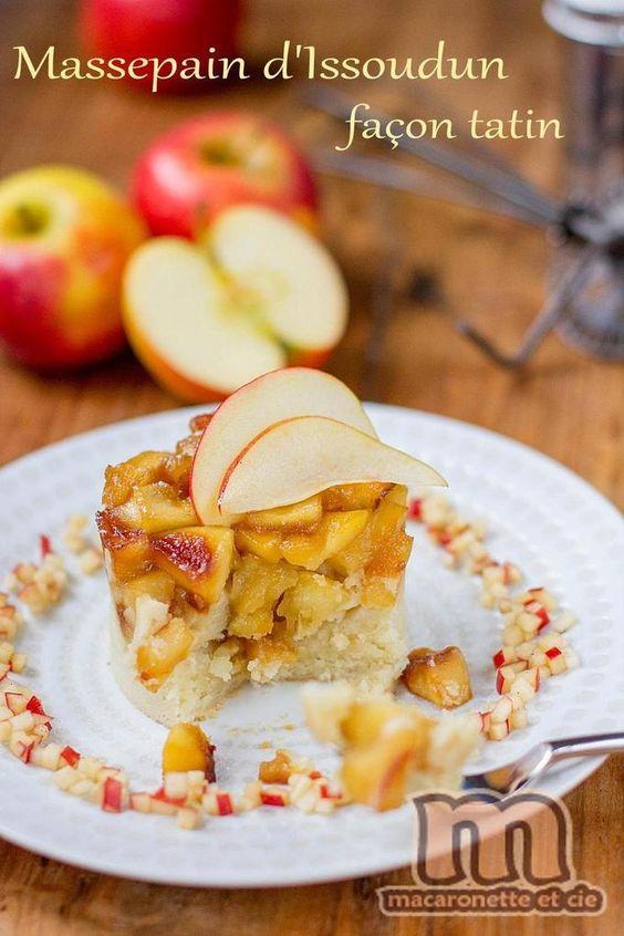 Massepain d'Issoudun façon tatin et sa brunoise de pomme à la vanille