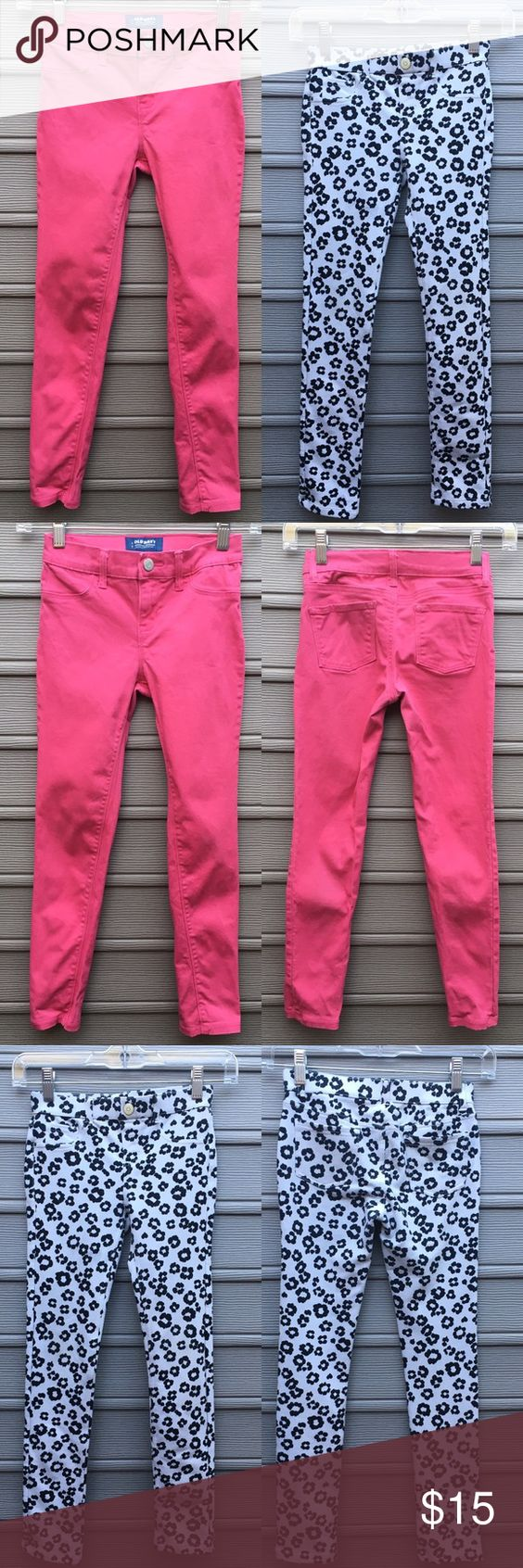 Girls Skinny Jean Bundle 💖 Girls Skinny Jean Bundle 💖. First pair are pink cotton Denim from Old Navy. Second are Jeggings from Gymboree. As is. Both pairs in excellent condition. Both have adjustable bands in inside of waist. Gymboree Bottoms