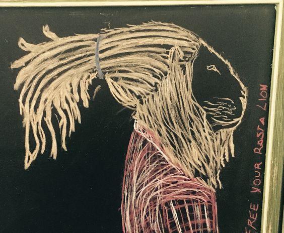 Rasta lion drawing