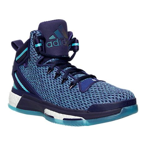 Boys' Grade School adidas D Rose 6 Boost Basketball Shoes - AQ8724 PUR | Finish…