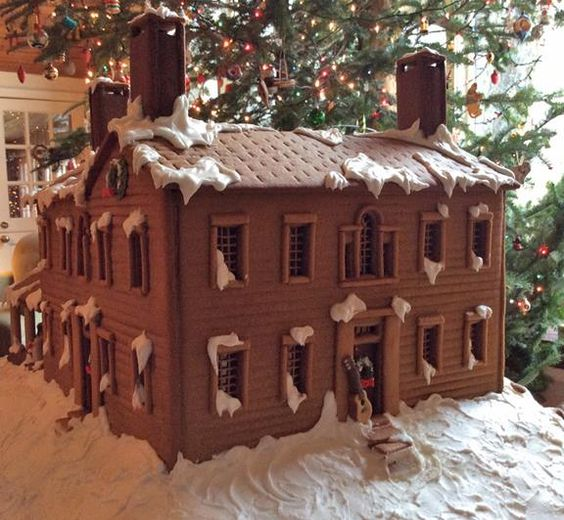 This was a Christmas 2014 present to Daryl Hall.  It is a giant gingerbread house made to look like his 1787 Connecticut farmhouse.
