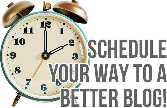 schedule your way to a better blog - who knew you could schedule FB posts and tweets?????