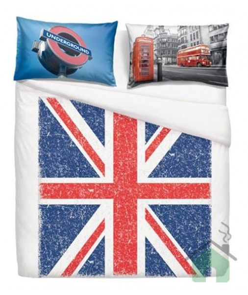 Set Copripiumino Bassetti Matrimoniale Union Jack Bandiera Inglese Union Jack Quality Bedding Double Bed Linen