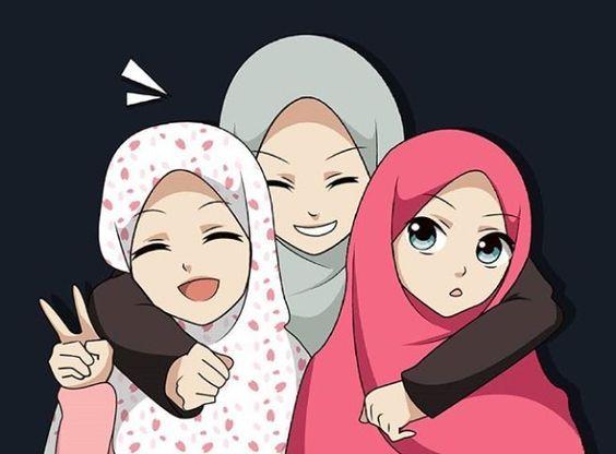 رمزيات بنات كيوت خلفيات بنات انمي محجبات Anime Muslim Anime Muslimah Friend Cartoon