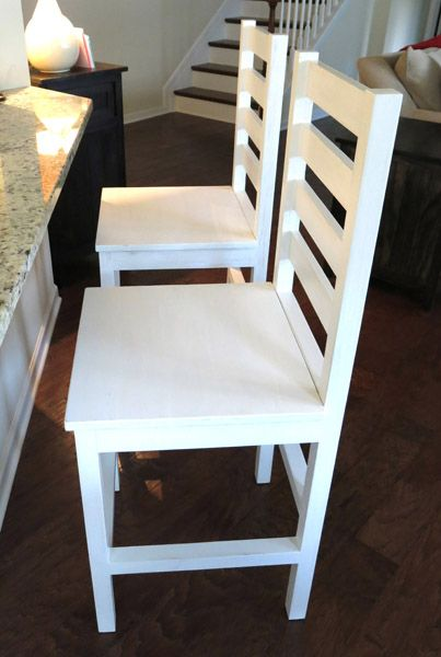Green Stained Counter Height Kitchen Chairs