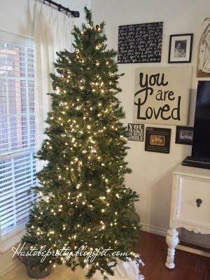 A simplified Christmas, Sometimes a tree with just lights brings you the simplicity you crave.