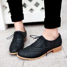 Dedo del pie redondo de encaje retro neutral tacón bajo 3 cm oxfords casual zapato zapatos mujer botines de superior tamaño cuatro estaciones(China (Mainland))