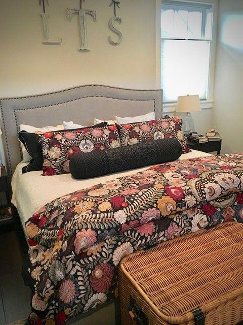 Helena Embroidered Floral Percale Duvet Cover Shams In 2021 Comfortable Bedroom Duvet Sets Remodel Bedroom