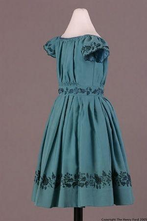 Child's Dress, 1845-1860: Children S Dress, Children S Fashions, Girls 1860 S, Historical Children, Fashion Children S, 1850S 1860S, 1840S 1850S Fashions, Children Dress, 1850 Dress