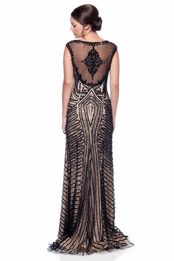 KC131586 Art Deco Flapper Style Evening Gown by Kari Chang Couture