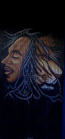 Beads Curtain Bob Marley   have a doorway to hang this bamboo door ...