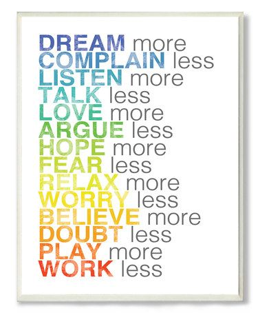 Look what I found on #zulily! Dream More Wall Sign by Stupell Industries #zulilyfinds