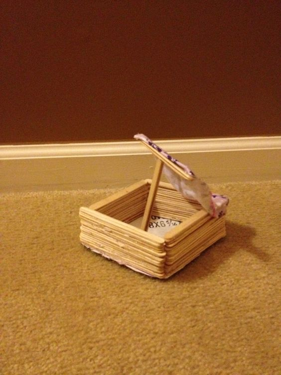 This boat was made by my sister she made it out of What to make out of popsicle sticks