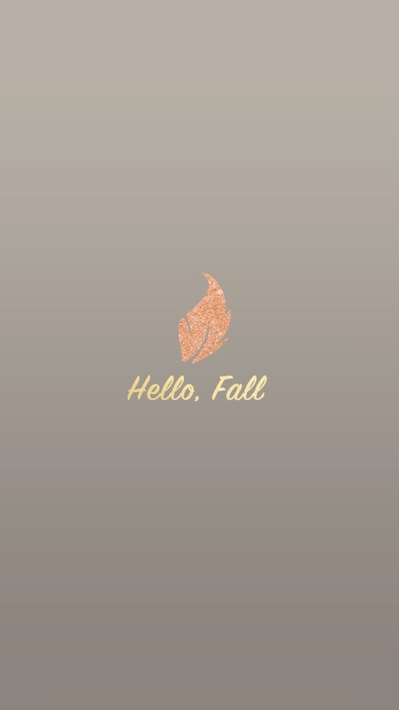 Hello Fall iPhone Wallpaper
