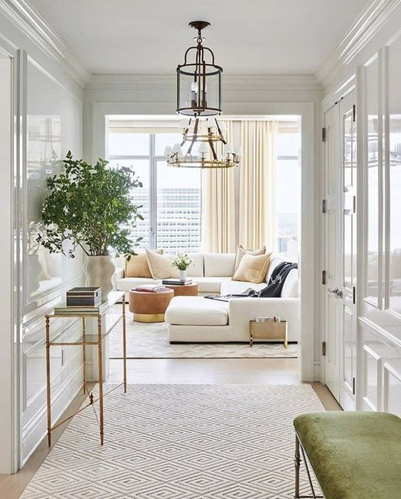 Living Room, Living Room Ideas, Living Room Design, Interior Design, Hallway Design, Interiors, White Living Room, Neutral Home Design, Home Decor, Home Styling, Living Room Furniture, Entry Way Design, Console Table, Sofa, White Sofa