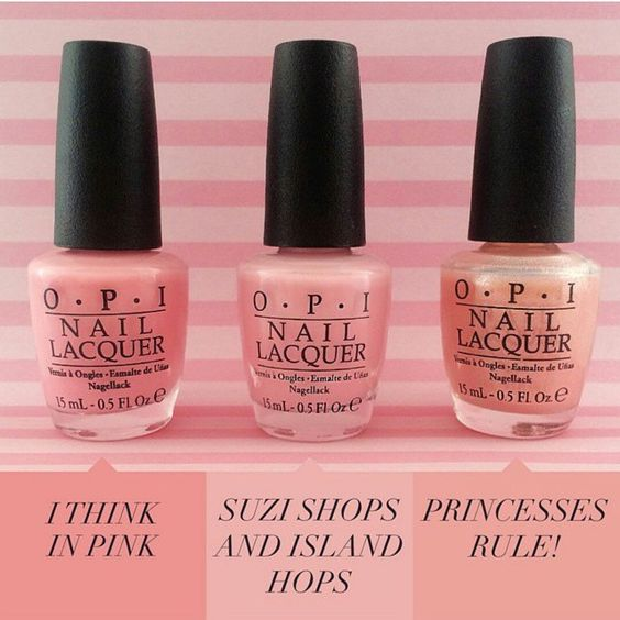 Love these pretty bridal shades from OPI. Perfect for a summer wedding. #beautyandthevow #bridalnails #bride #weddingdaypreparations #prettynails #pink #opiproducts