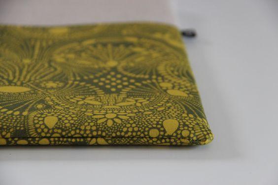 Tablet-PC-Taschen - MacBook Air 15 Notebook Tasche Bio-Baumwolle Apple - ein Designerstück von madebybirdie bei DaWanda