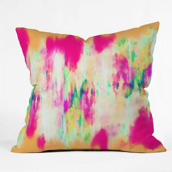 Amy Sia Electric Haze Throw Pillow