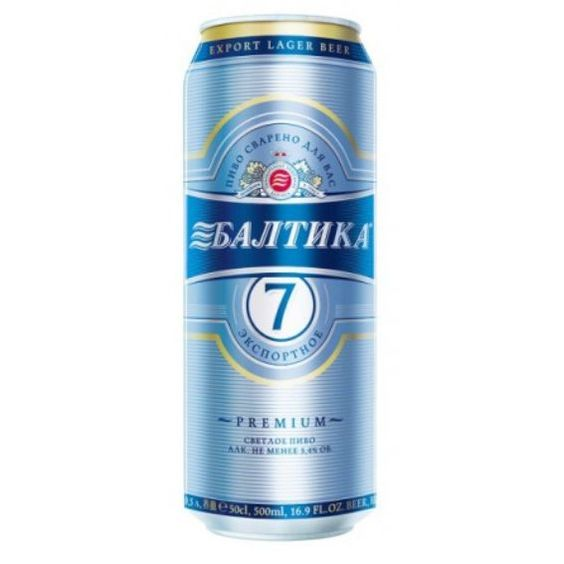 Bia Baltika 7 5%- Lon 500ml - Bia Nhập Khẩu