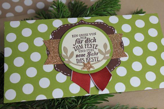 Briefumschlag Weihnachtlich - Stampin' Up!
