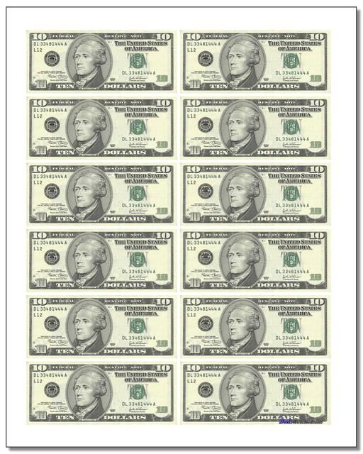 These Printable Play Money Sheets Can Be Cutup And Used For Classroom To Teach Money Math Or As Replacement Printable Play Money Money Worksheets Play Money
