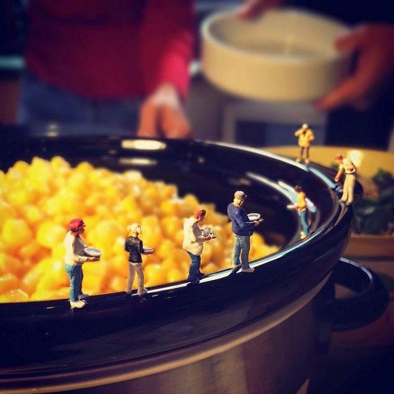 Hora do almoço - Fotografias em miniatura por Derrick Lin;