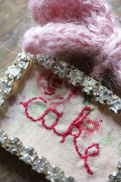 'cake' word brooch: Julie Arkell