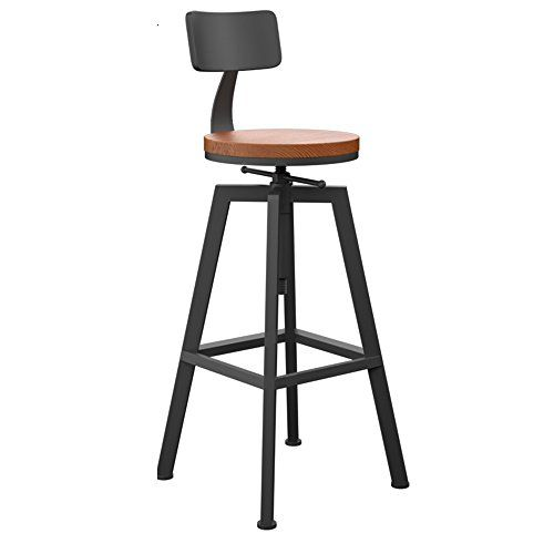 Wondrous Simple Bar Stool Wrought Iron High Stool Solid Wood Bar Machost Co Dining Chair Design Ideas Machostcouk