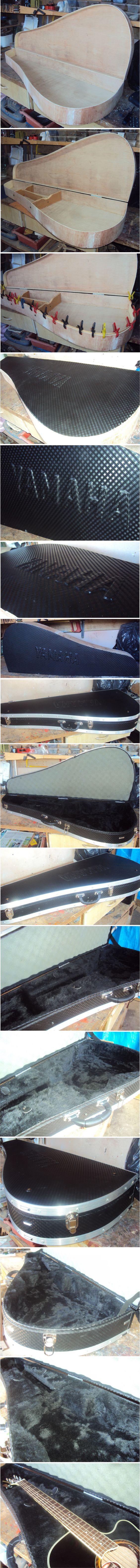 Passo a passo da fabricação de case por encomenda sob medida para violão Yamaha.