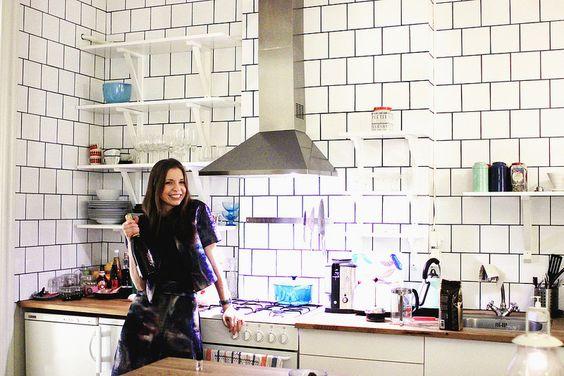 Kok Vitt Kakel Svart Fog : Vitt kakel med svart fog  Kitchen  Pinterest  Kok