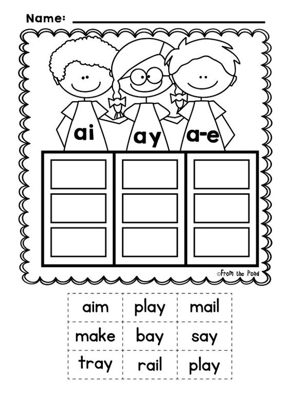 Phonics - Sound Pals - Vowel Team Posters, Words Sorts and Worksheets