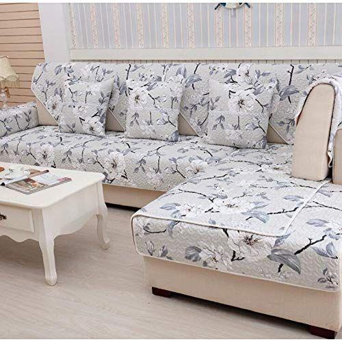 Smallsun Sofa Covers Place Garden Wind Cotton Sofa Cushion Non