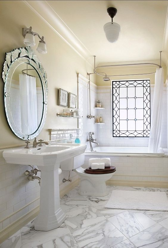 Elegant Small Bathrooms   Chick and Elegant Small Bathroom Mirror. Elegant Small Bathrooms   Chick and Elegant Small Bathroom Mirror