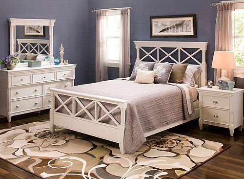Bedroom sets headboards and the white on pinterest for Raymour and flanigan bedroom furniture