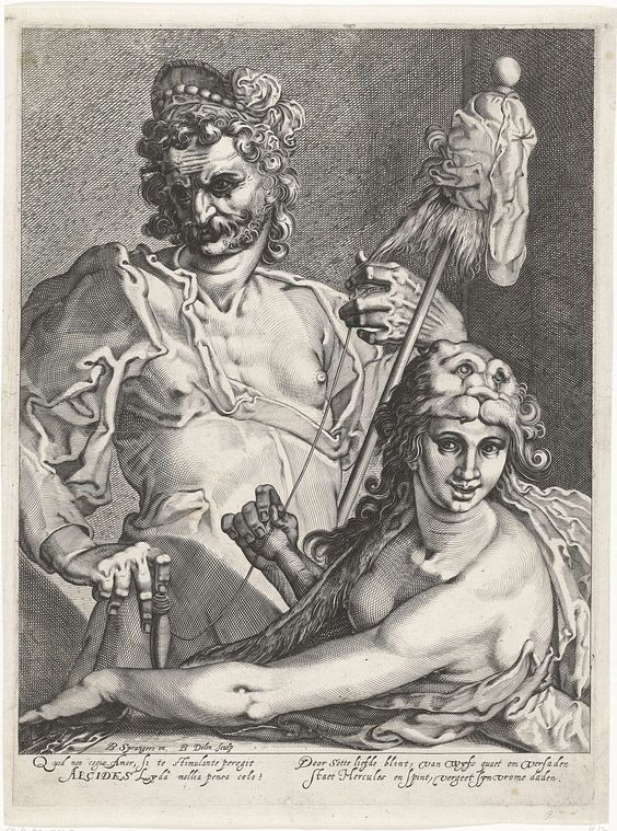 Hercules en Omphale, Bartholomeus Willemsz. Dolendo, 1589 - 1626: