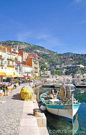 The picturesque village of Villefranche-Sur-Mer, French Riviera, South of  France #France