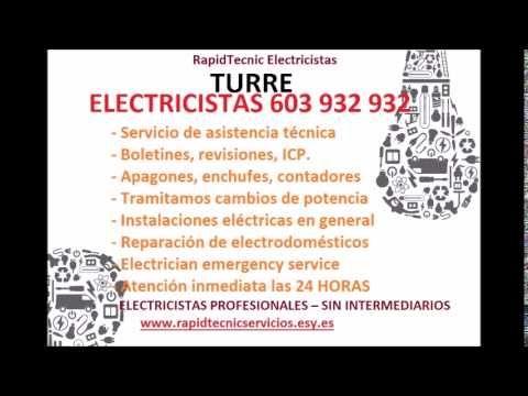 Electricistas TURRE 603 932 932 Baratos