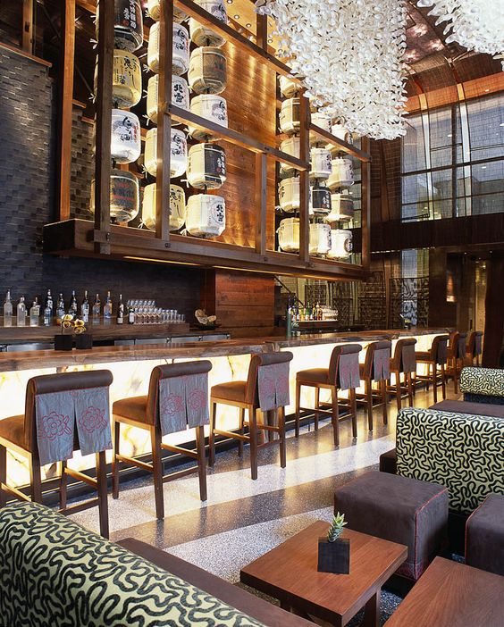 Nobu restaurant new york city designed by rockwell
