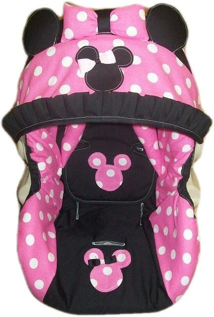 minnie mouse car seat covers minnie mouse infant car. Black Bedroom Furniture Sets. Home Design Ideas