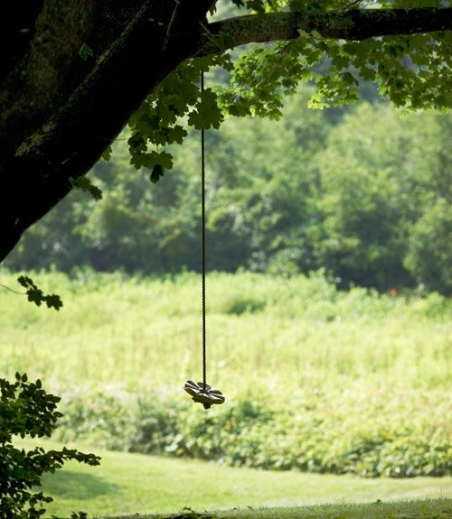 Want a swing hanging from a tree so bad for our girls.  Too bad we can't do this at our current house.