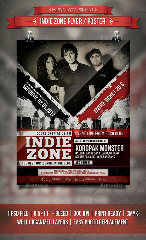 Indie Zone Flyer / Poster Template PSD