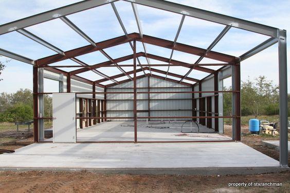 Building a barndominium pic heavy photos texas for Texas pole barns