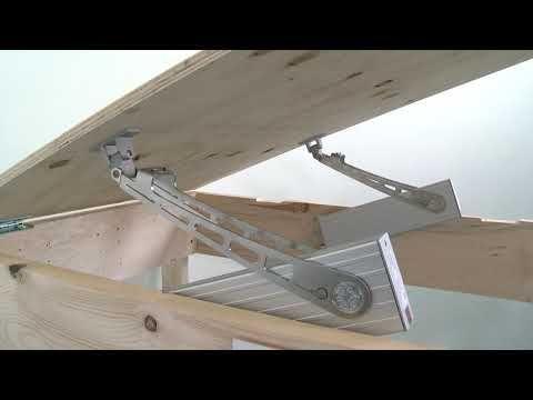 Bodenluke Kellerluke Elektrisch Offnen Mit Klapparmantrieb Ea Kl2 710mm Scharniere Auf Der Kurzen Youtube Scharniere Keller Luke