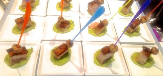 The food - Anna's PORKED belly on pea purée