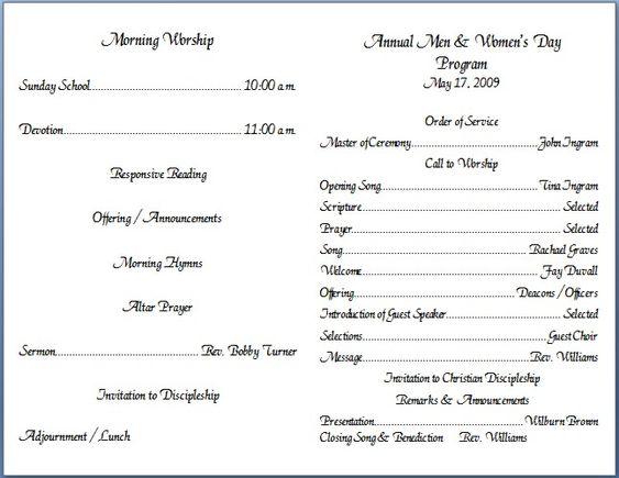 Free church bulletin layouts church bulletin covers home church bulletin covers church for Church bulletin ideas layouts
