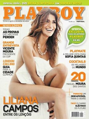 Playboy Portugal July-August 2012 Cover featured by Liliana Campos