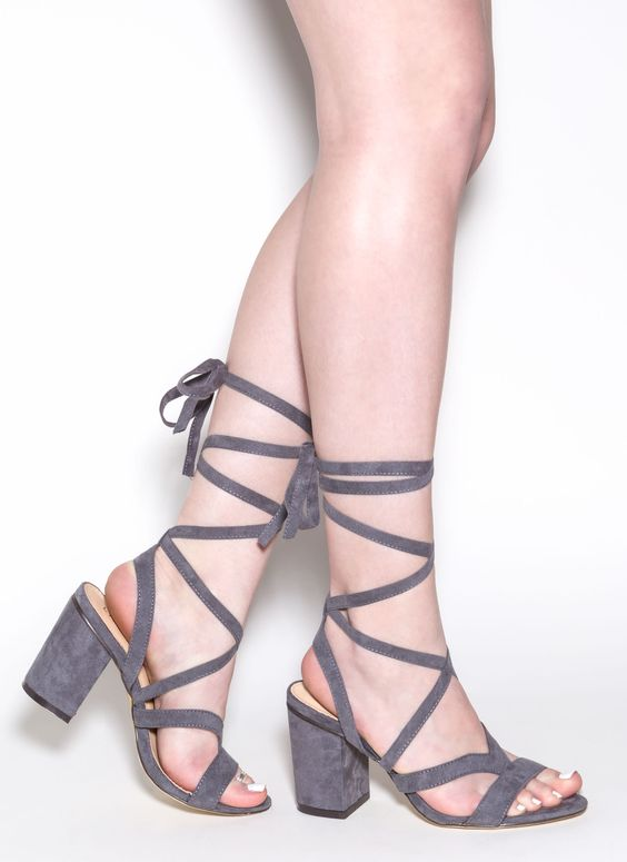 So Strapping Lace-Up Chunky Heels strappy laceup chunky heels